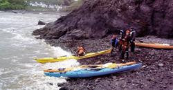 Sea kayak assessment - launching and landing